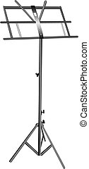 Empty music stand - Empty metal music stand isolated on a...
