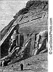 The Great Temple at Abu Simbel in Egypt vintage engraving