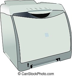Laserjet laser printer for office - Full vectorized laser...