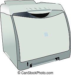 Laserjet laser printer for office - Full vectorized laser...