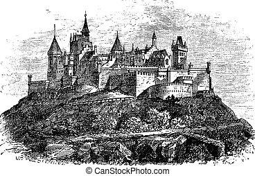 Hohenzollern Castle or Burg Hohenzollern in Stuttgart,...