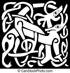 Celtic Symbol - A vector illustration of a Celtic animal...