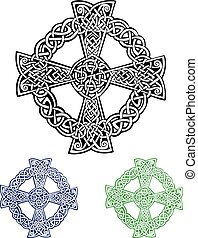 Celtic Cross - An illustration of a Celtic cross in an...