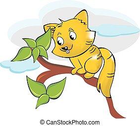 Squirrel or Sciuridae, illustration - Squirrel or Sciuridae,...