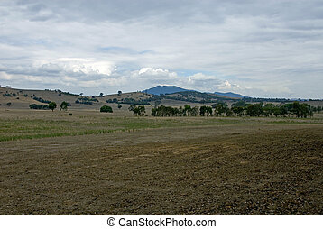 A Cloudy Day - A rural landscape on a dull, cloudy day