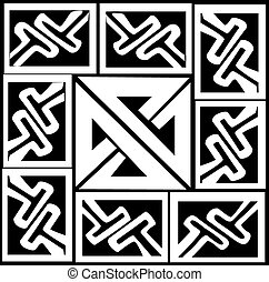 A vector illustration of a Celtic pattern and knot - A...