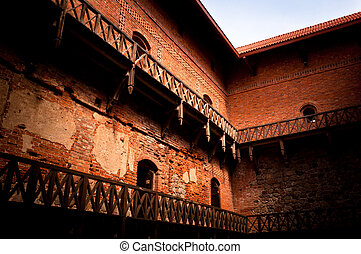 Ancient Castle Interior - Trakai castle interior, an ancient...