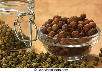 allspice a on brown background