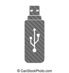 Usb flash sign. - Usb flash sign on white background. Vector...