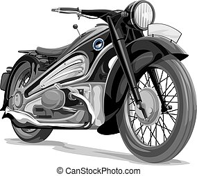 Vector of motorcycle.