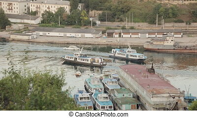 Passenger boats in the bay of Sevastopol - Passenger boats...