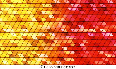 Broadcast Twinkling Cubic Hi-Tech Triangles, Multi Color, Abstract, Loopable, HD