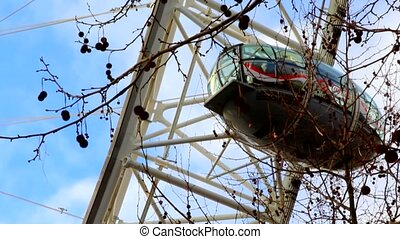 The London Eye cabin - The London Eye fragment glass capsule...