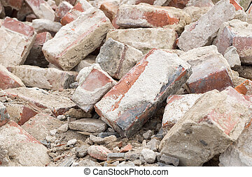 Building rubble and stones