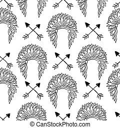 Native American Seamless Patterns - Native American Seamless...