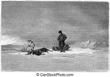 """1866, peinture, dans, a, salon, appelé, """"Winter,..."""