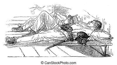 Rest after custody, vintage engraving - Rest after custody,...