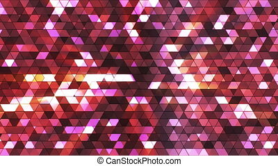 Broadcast Twinkling Squared Hi-Tech Triangles, Purple, Abstract, Loopable, HD