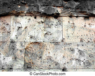 Blast wall - Wall in Berlin showing signs of blast during...