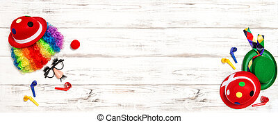 Carnival mask clown. Holidays party banner - Carnival mask...