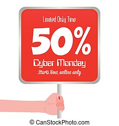 Cyber Monday - abstract cyber monday background with some...