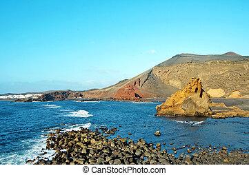 Lanzarote, Canary Islands, Spain - a view of Playa del Lago...