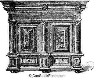 Dutch furniture carved wooden seventeenth century...