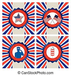 Memorial Day - abstract memorial day banner on a special...