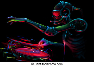DJ Robot and the turntable