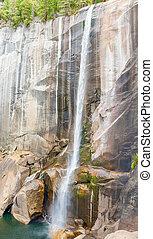 Vernal waterfall in Yosemite National Park in California,...