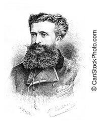 Dr. Gustave le Bon, vintage engraving - Dr. Gustave le Bon,...