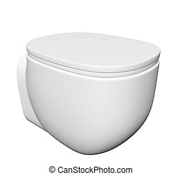 Modern toilet bowl and lid