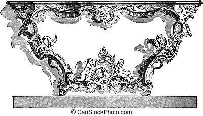 Console apply, after Cuvillies (eighteenth century), vintage...