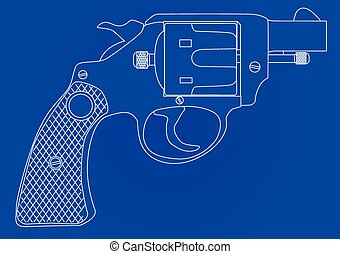 Snub Nose 45 Blueprint - A snub nose handgun as used by...