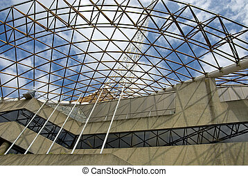 Performing Arts Centre - Metal framework atop the Melbourne...