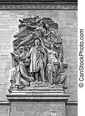Sculpture - Arc de Triomphe, Paris - Cortots The Triumph of...