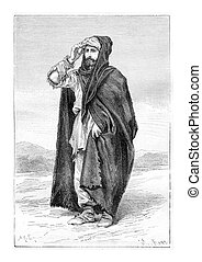 Peasant Mine Aristocrat, vintage engraving - Peasant Mine...