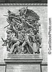 Sculpture - Arc de Triomphe, Paris - Rudes The Departure of...