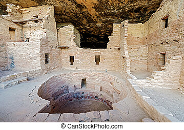 Mesa Verde National Park in Colorado, USA - A view of a...