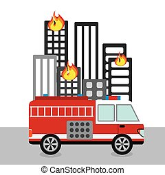 fire department design - fire departament design, vector...