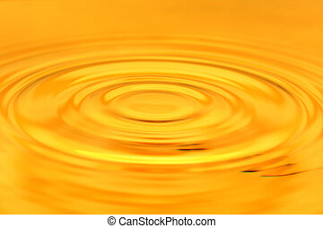 background of golden water