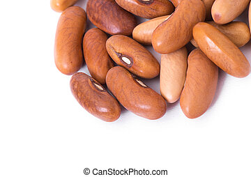 cranberry bean on white background