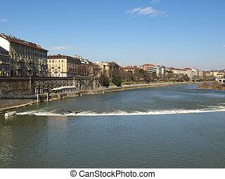 River Po, Turin - Fiume Po River Po in Turin, Italy