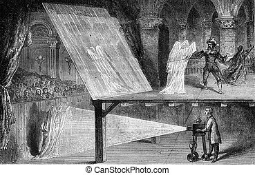 Optical illusions, Spectra, vintage engraving. - Optical...