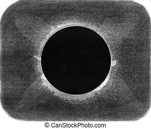 Appearance of the projections of the Sun during the total...