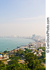 pattaya - Pattaya city view from bird eye
