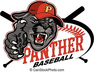panther baseball mascot team design for school, college or...