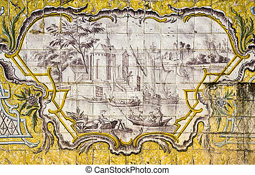 Decorative tiles - Portuguese tiles decorating the terraces...