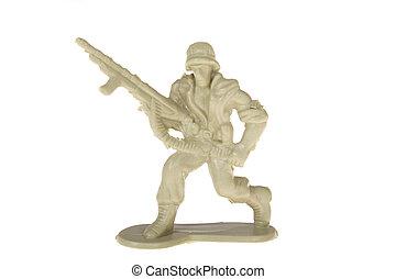 Plastic Toy Soldier - plastic toy soldier photo on the white...