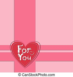 Pink Valentine's Day Gift Card Holiday Heart Shape